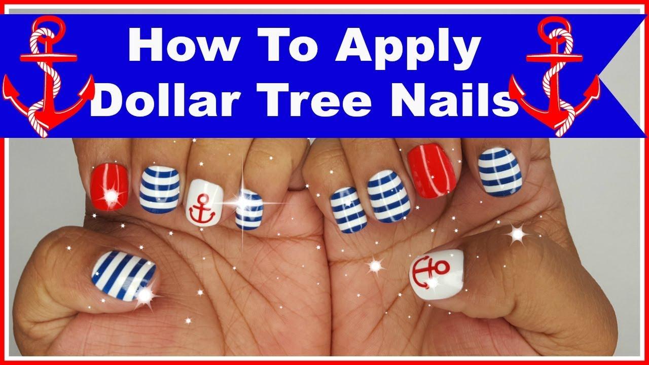 Dollar Tree Nails How to apply Dollar Tree Nails - YouTube