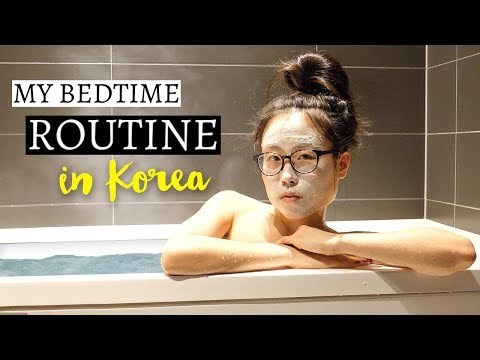 MY BEDTIME ROUTINE when traveling in Korea