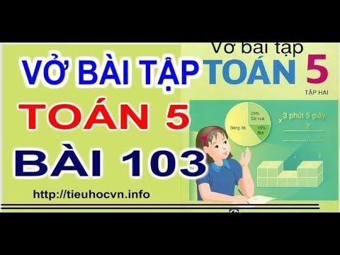 Vở bài tập Toán 5 Bài 103 Luyện tập chung Tính Chu vi sân vận động Tuần 21