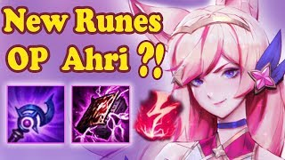 NEW S8 RUNES ON AHRI IS REALLY OP?! | FULL BUILD | League of Legends