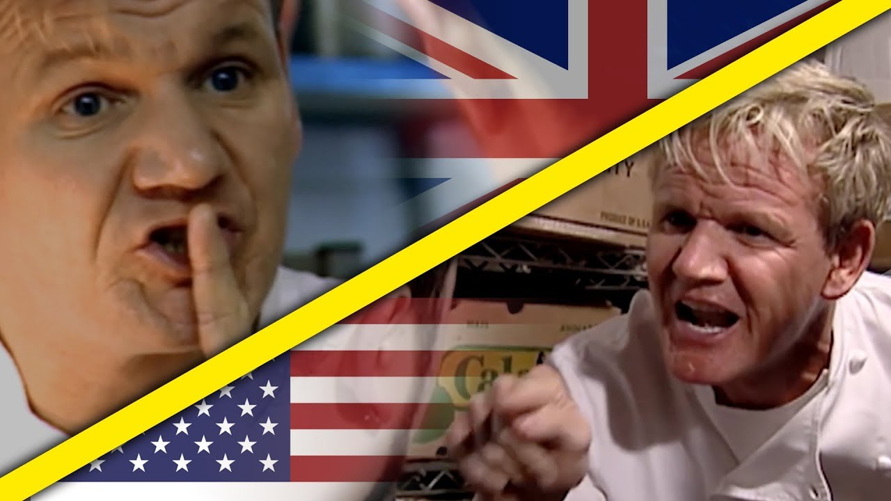 The Difference Between The Uk And Usa Kitchen Nightmares Youtube
