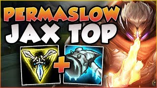 THERE IS NO ESCAPE! THIS PERMASLOW JAX BUILD IS 100% BUSTED! JAX TOP GAMEPLAY! - League of Legends