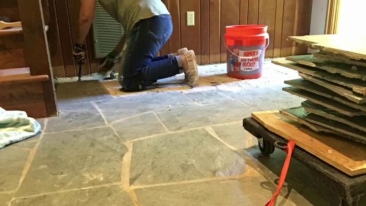 Removing Slate Floor Youtube