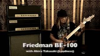 Friedman BE-100 with Akira Takasaki of Loudness. Learn More : http:...