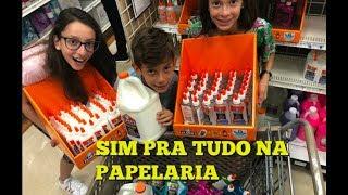 MINHA MÃE DISSE SIM PRA TUDO NA PAPELARIA MICHAELS! MUITAS COMPRINHAS DE SLIME! MY MOM SAID YES!