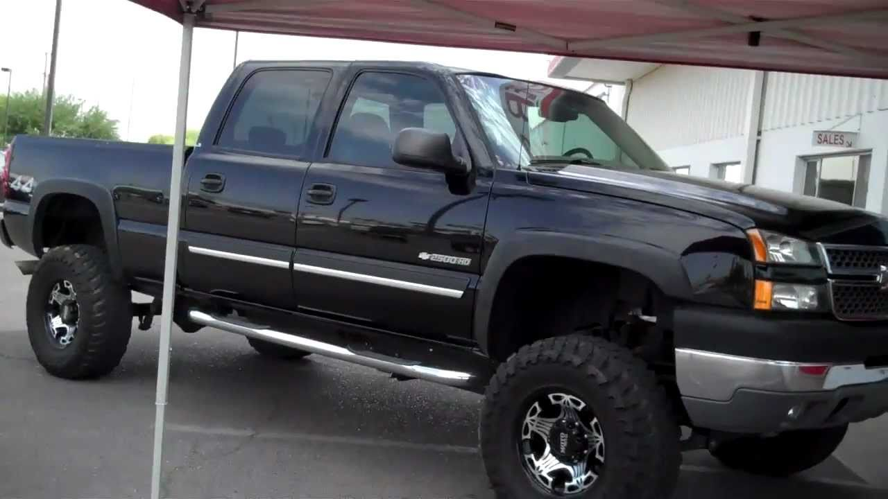 Duramax 6 Inch Lift >> STK#2976 2005 CHEVROLET SILVERADO 2500HD BLACK 6 0 LITRE - YouTube