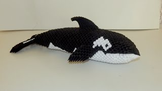 How to make 3D Origami Orca (Killer whale) part1
