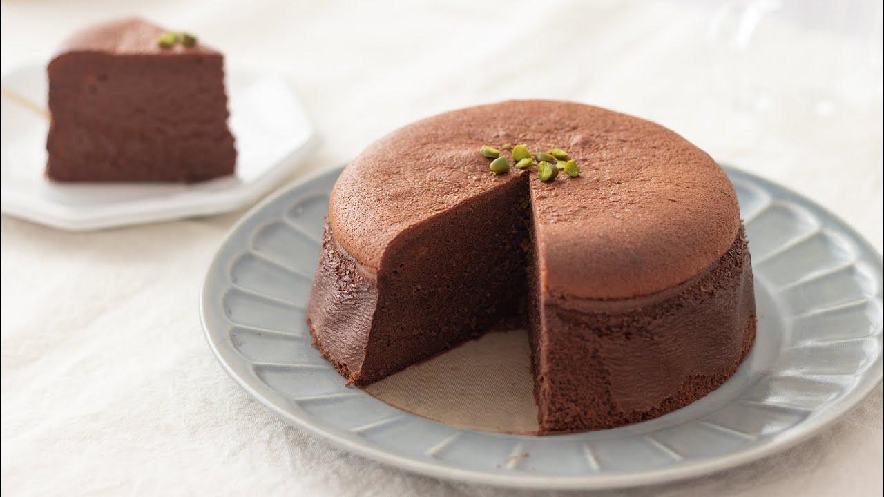 バター 生クリームなしで作る 濃厚スフレ ガトーショコラの作り方 Souflle Gateau Au Chocolat バレンタインのお菓子 Hidamari Cooking Youtube