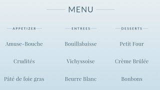 How to Read a French Menu - Merriam-Webster Ask the Editor