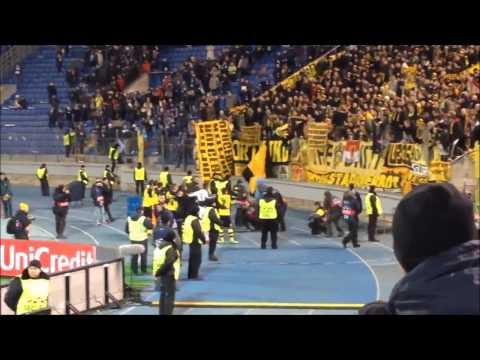 BVB Fans nach dem Spiel in St. Petersburg (25.02.2014)