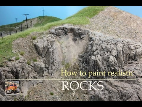 How to paint realistic Rocks for your HO Model Railroad Layo