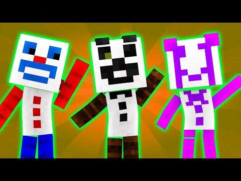FNAF World - Night 3 - Paper Pal TRIO (Minecraft Roleplay) [Part 2]