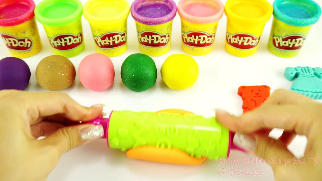 Learn Colors Play Doh Balls Doreamon Disney Princess Ice Cream Elephant Cars Bears Chip Dale #7