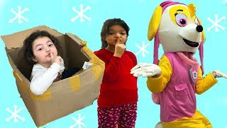 PAW PATROL SKYE İLE EVDE SAKLAMBAÇ OYNADIK! Hide and Seek at House, Family Funny Games