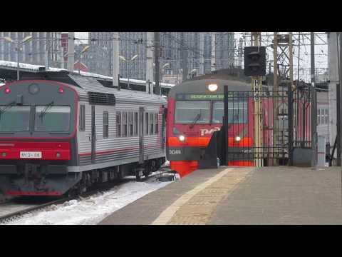 Электропоезд ЭД4М-0435 станция Москва-Пасс. Смоленская 7.02.2019