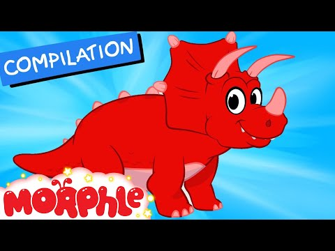 My Pet Dinosaur: Triceratops -  (+ Dinosaur compilation) My Magic Pet Morphle Episode #27