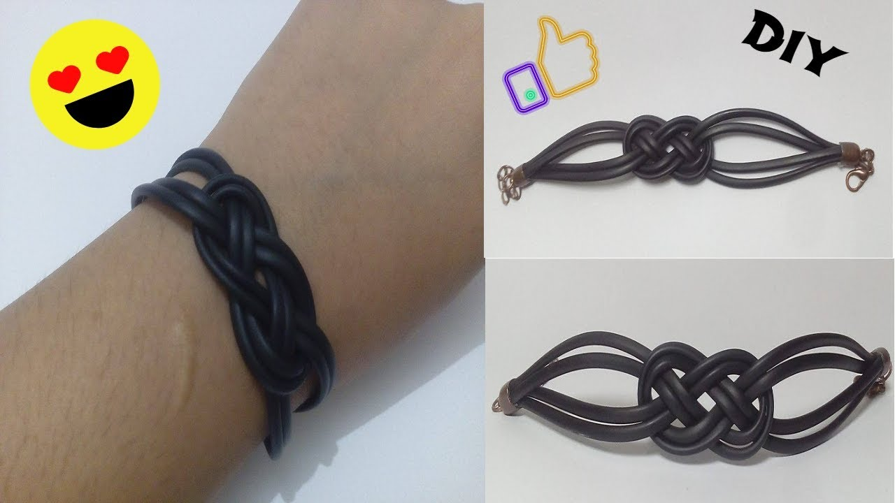 How to make a bracelet from headphones. several types of jewelry made by yourself. Step-by-step instruction 58