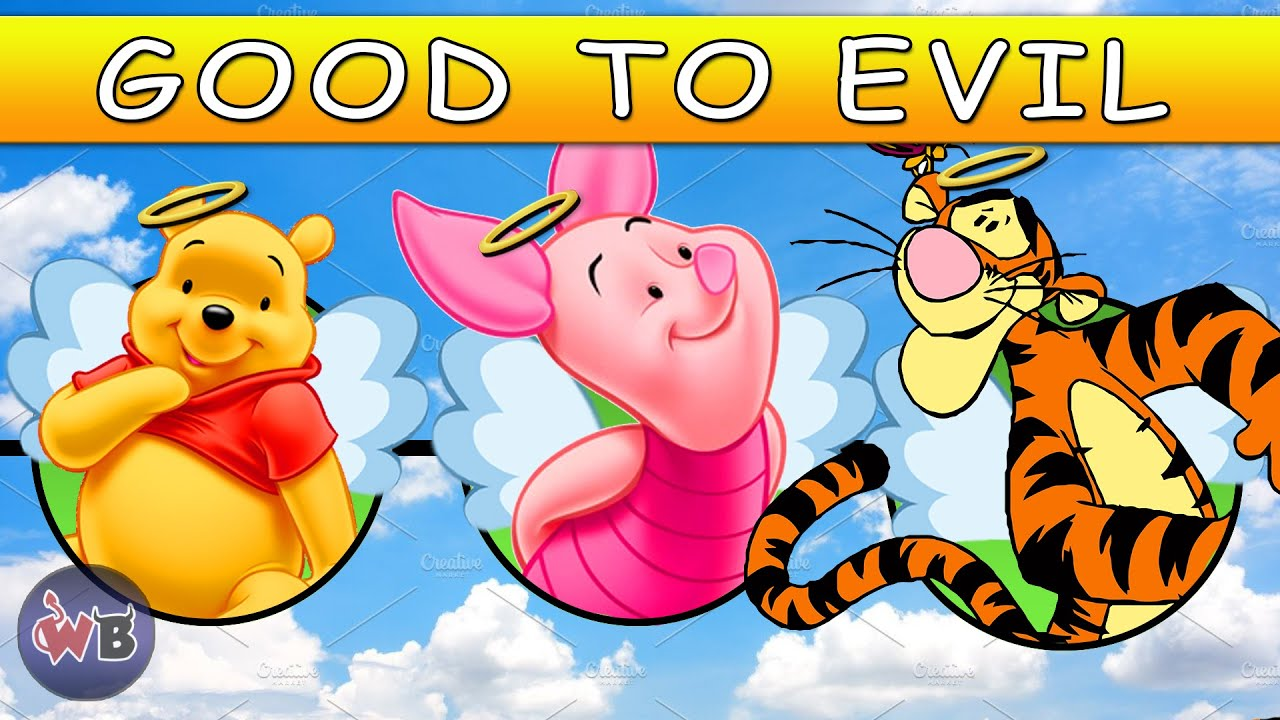 Winnie The Pooh Characters Good To Evil Youtube