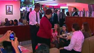 President Obama Visits Roscoe's Chicken And Waffles