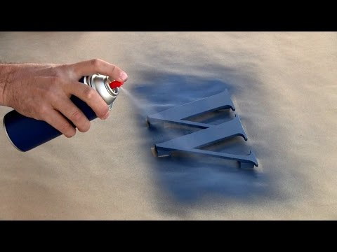 How to Spray Paint Indoor Wooden Letters