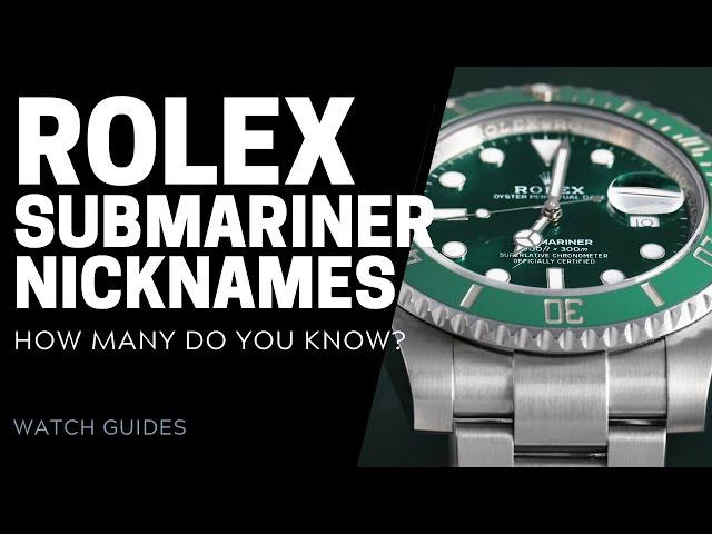 Rolex Submariner Nicknames 101: Hulk, Smurf & More | SwissWatchExpo