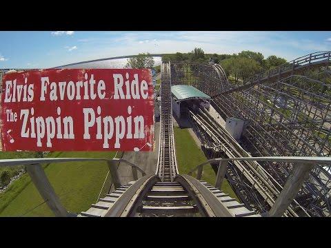 Zippin Pippin Roller Coaster POV Bay Beach Amusement Park Wisconsin Elvis Presley