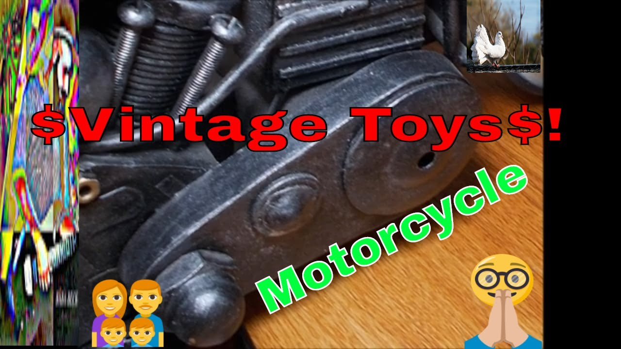 Who made this Unique Vintage Toy Motorcycle?  How many?  When? Please Help !!! | Video