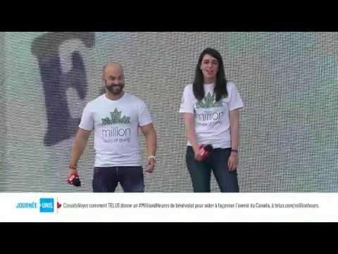 WE Day Canada  Matthew Santoro and Alison Boyd Fary from TELUS