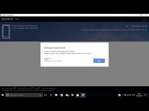 xperia companion software repair error solution