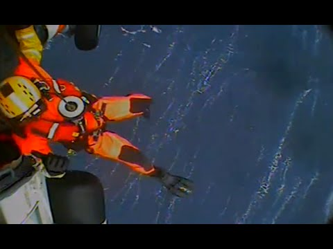 U.S. Coast Guard Rescue During Winter Storm South of Nantucket, MA!