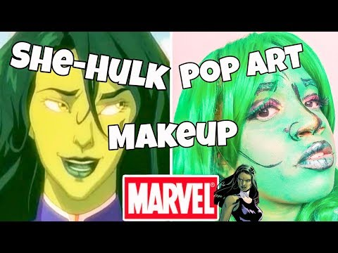 She Hulk Pop Art Tutorial thumbnail