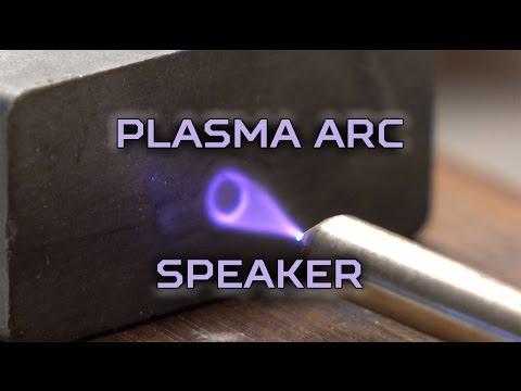 Plasma arc loudspeakers