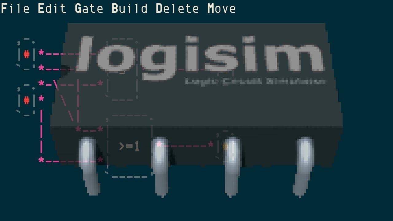 logisim, ANSI/ncurses-based logic circuit simulator - YouTube