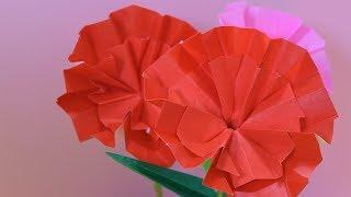 折り紙で、カーネーション Carnation 折ってみました。 ✧❀✿❀✧✧❀✿❀✧✧❀✿❀✧...