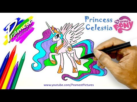 Putri Celestia Cara Menggambar Dan Mewarnai Gambar Kuda Poni