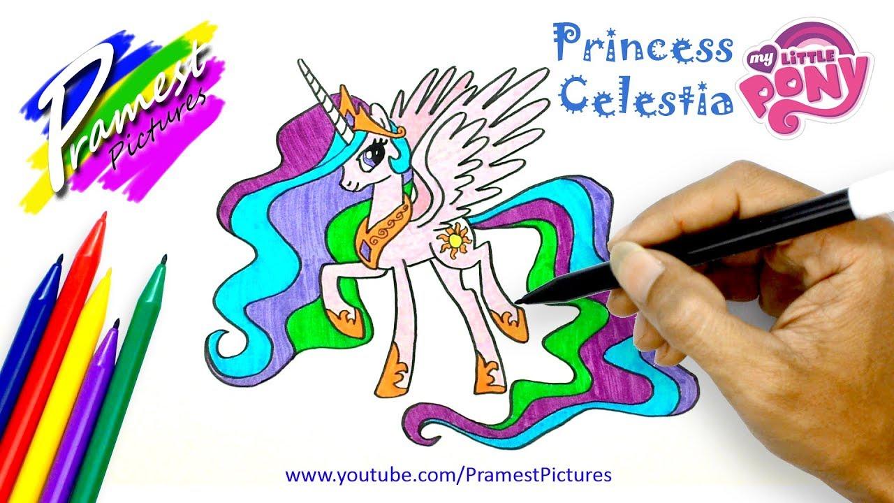 Putri Celestia Cara Menggambar Dan Mewarnai Gambar Kuda Poni Untuk
