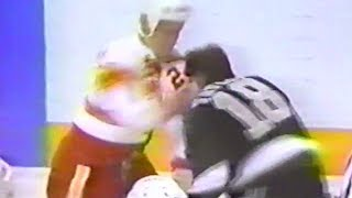 Dave Taylor vs Jim Peplinski Apr 20, 1989