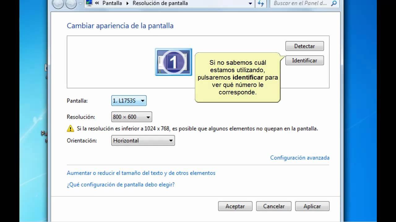 curso de windows 7 configurar pantalla youtube