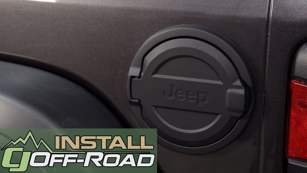 2018 Jeep Wrangler Jl Mopar Fuel Door Black With Jeep