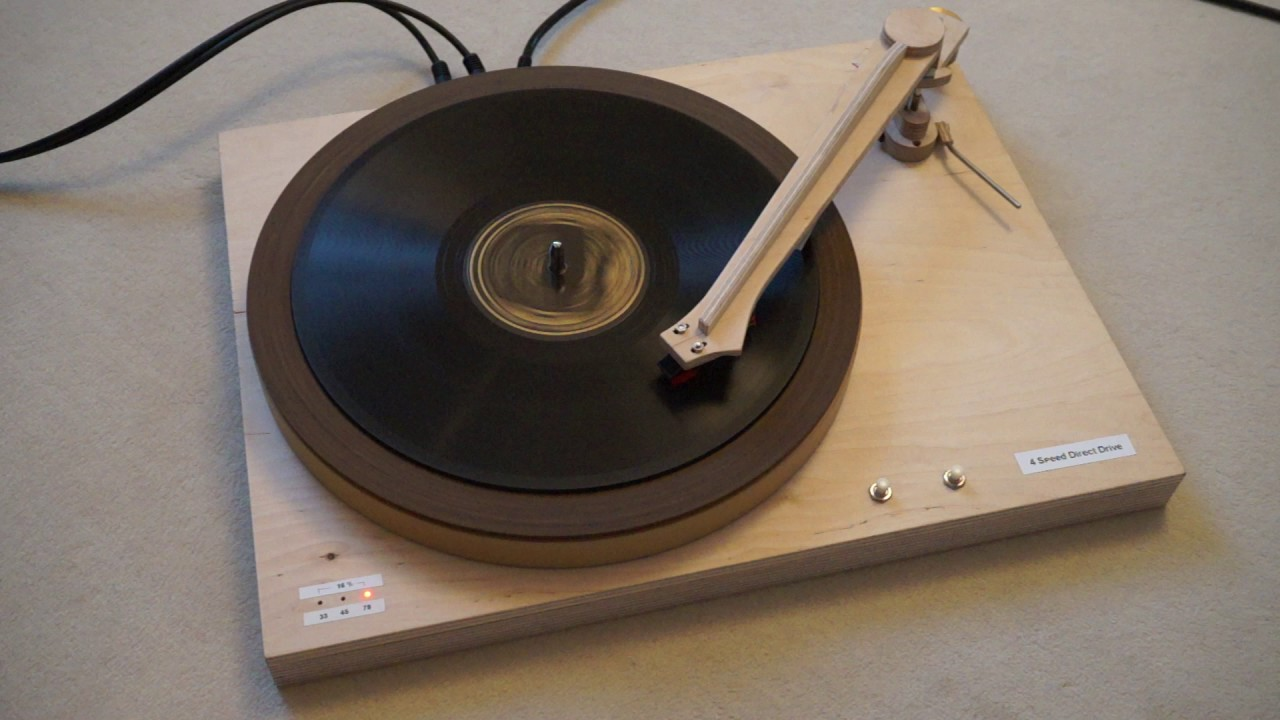 78rpm Direct Drive Diy Turntable Playing Al Jolson Quot There