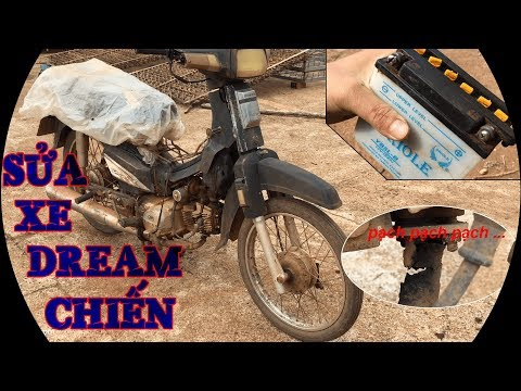Sửa Xe Dream Cho Bố - Tập 1 - Tháo Xe Và Phục Hồi Acquy | Đi Với Tôi