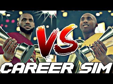SIMULATING LEBRON JAMES VS. KOBE BRYANT'S NBA CAREERS ON NBA 2K18!! #Careersimvs