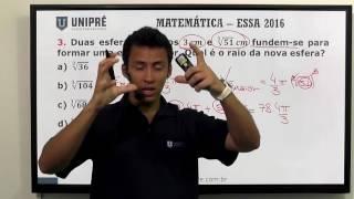 Resolução da Prova de Matemática da EsSA de 2016 (parte 1 de 3)
