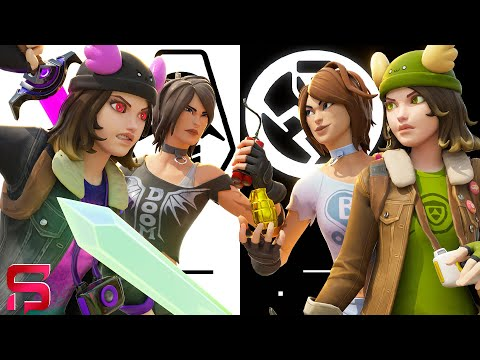 SHADOW GIRLS Vs GHOST GIRLS - SISTERS AT WAR.... ( Fortnite Film )