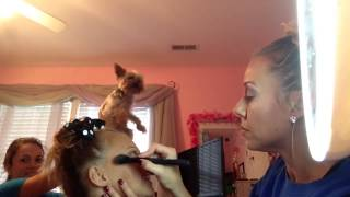 Mommy does my makeup!