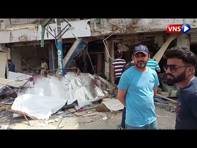 Cylinder explosion at pizza shop | VNS Live