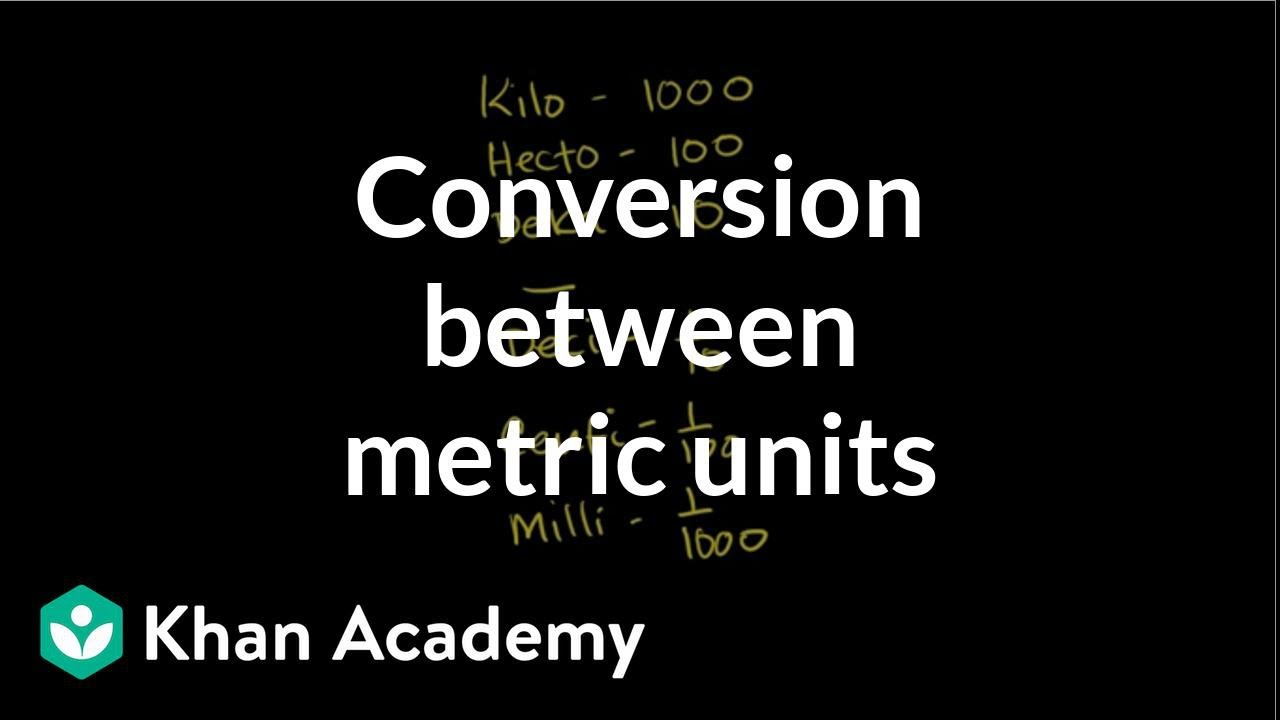 medium resolution of Conversion between metric units (video)   Khan Academy