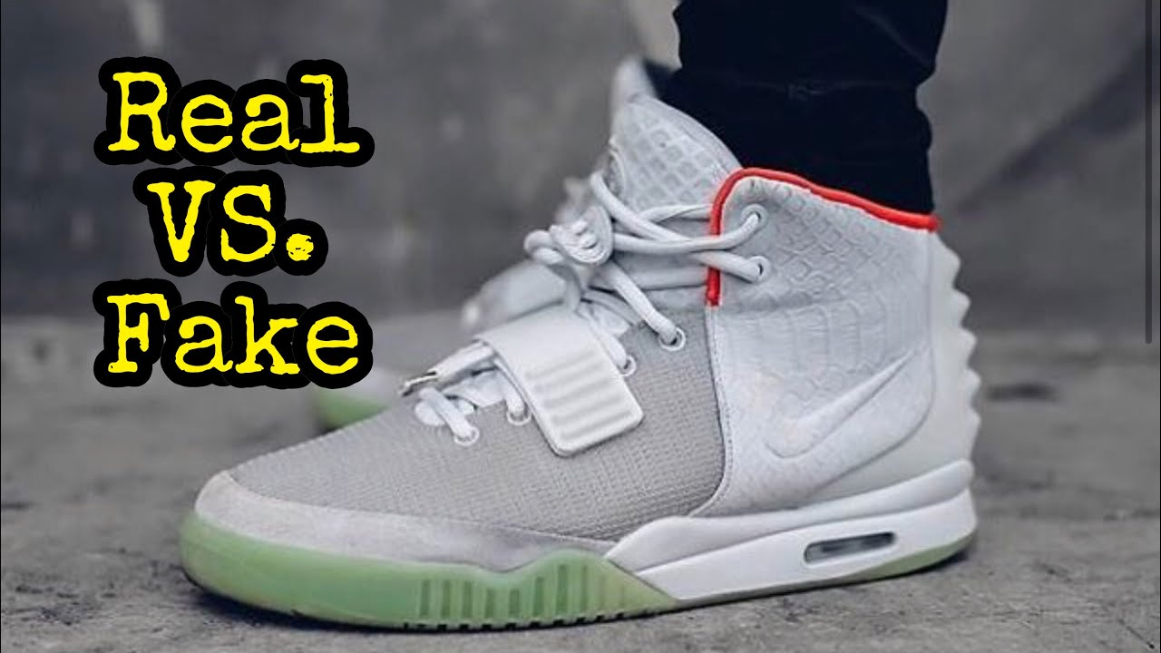 "BEST Real vs. Fake    Nike Yeezy 2 ""Pure Platinum"" - YouTube df92c3870cdc"
