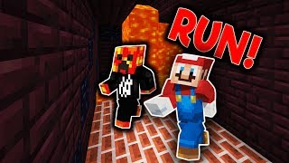 SUPER MARIO LAVA RUN! Minecraft DEATH RUN w/ PrestonPlayz BionicMC