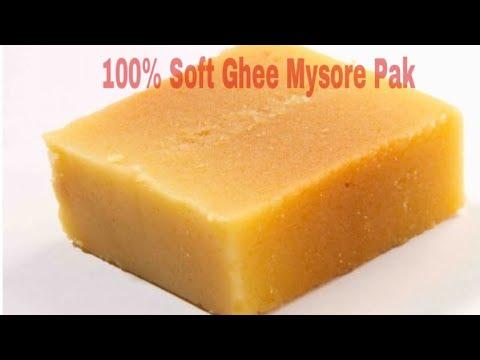 வாயில் வைத்த உடன் கரையும் நெய் மைசூர்பாக் | How to make 💯 Perfect Soft Ghee Mysore Pak thumbnail